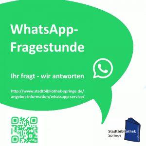 WhatsApp-Fragestunde. Ihr fragt - wir antworten. @ Stadtbibliothek Springe