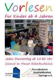 Vorlesen für Kinder ab 4 Jahren @ Stadtbibliothek Springe